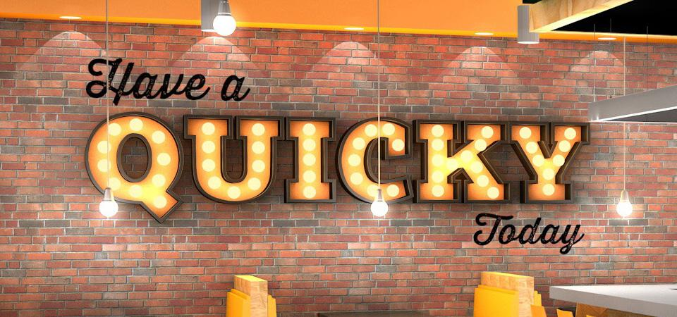 Quicky Pizza Luna Creative Signage Design