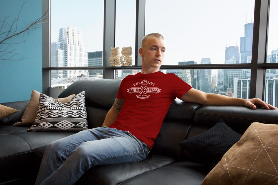 Quicky Pizza Luna Creative Graphic Design San Antonio T-shirt Design