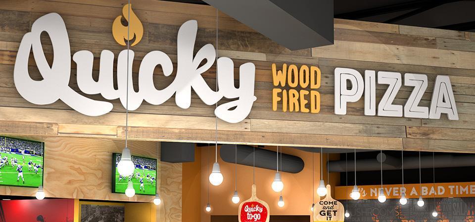 Quicky Pizza Luna Creative Logo Design