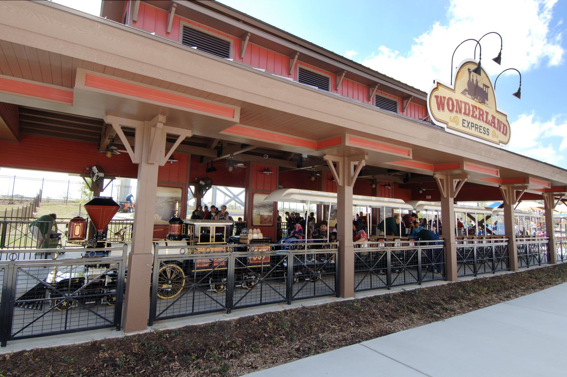 Morgan's Wonderland San Antonio Logo Design Train