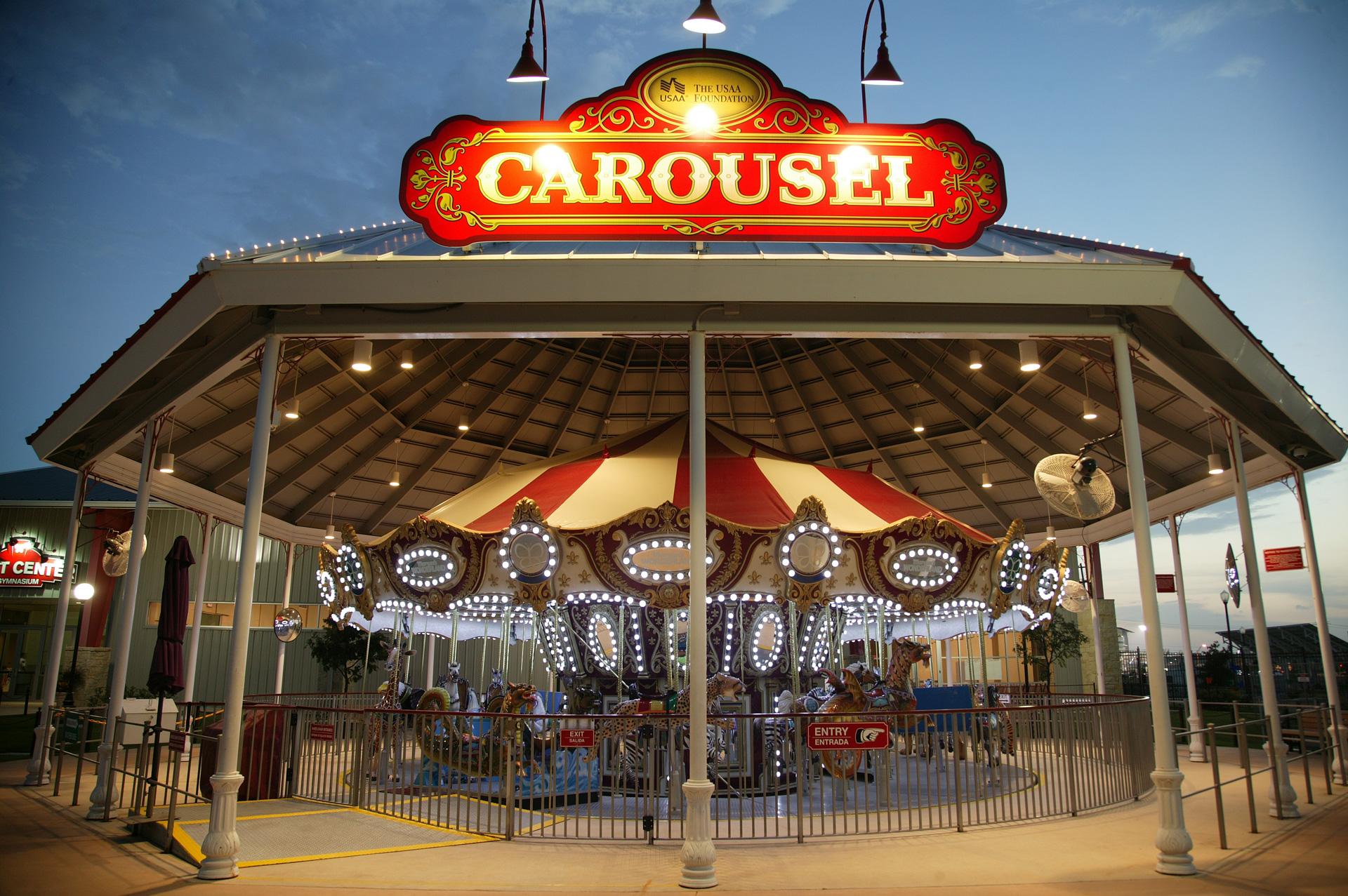 Morgan's Wonderland San Antonio Logo Design Carousel