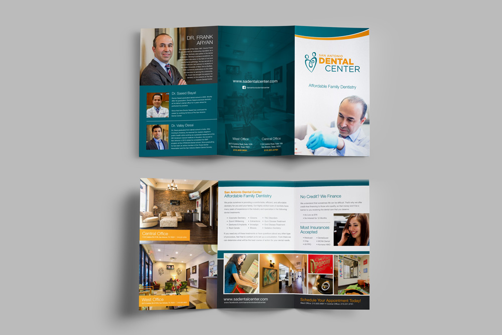 Dr Aryan branded marketing collateral graphic design