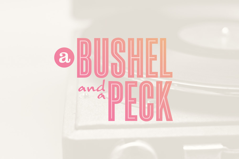 Graphic Design Logo Design Branding Bushel and a Peck Logo