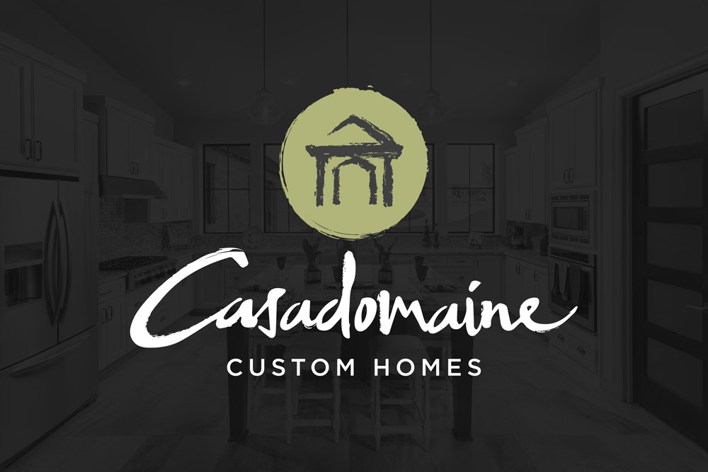 Graphic Design Logo Design Branding Casadomaine Custom Homes Logo