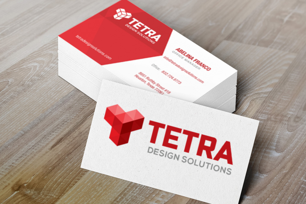 Tetra Business Cards branded marketing collateral