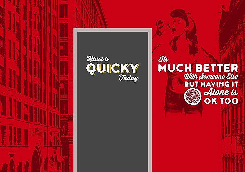Quicky Pizza Luna Creative Graphic Design San Antonio Graphic Design Wall