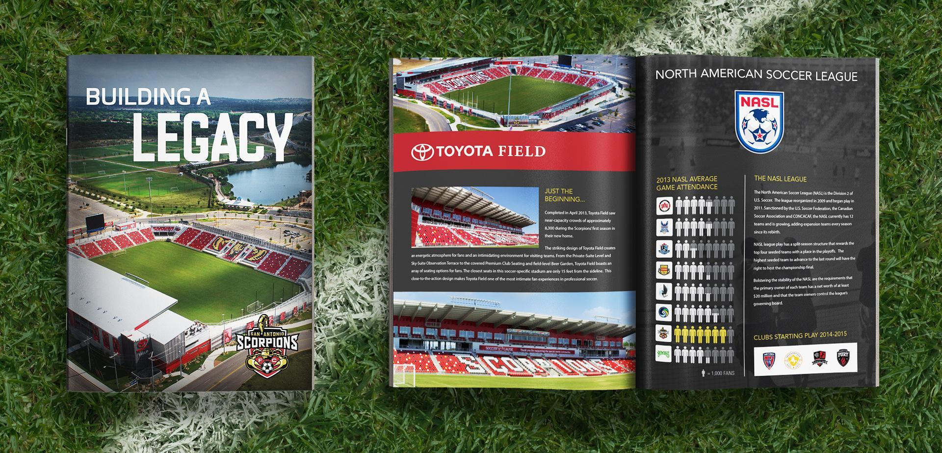 Toyota Field Fundraising Brochure Design Marketing Collateral