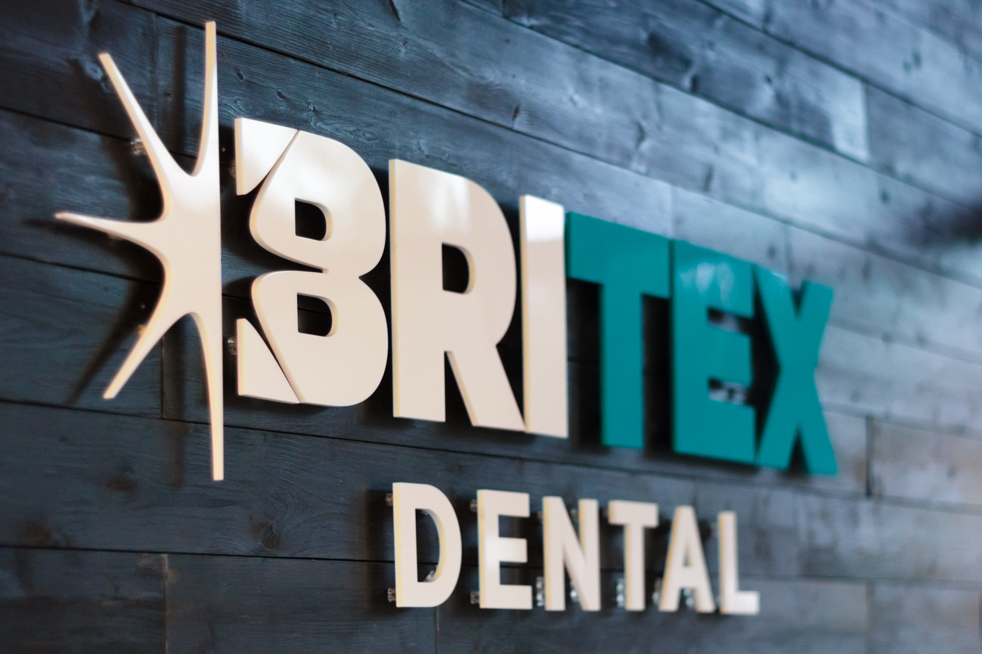 Britex Logo Design Wall